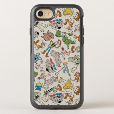 Toy Story 4   Retro Character Toss Pattern OtterBox Symmetry iPhone 8/7 Case