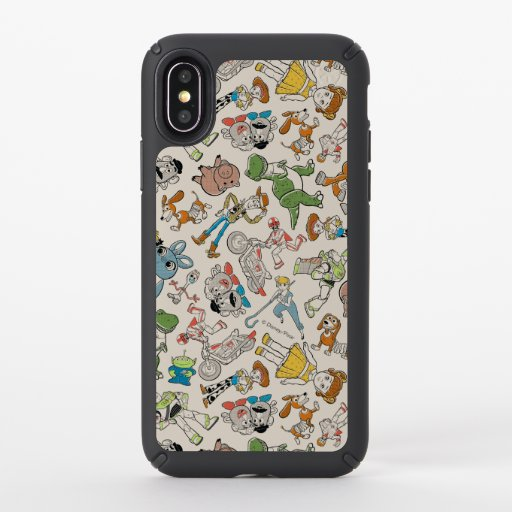Toy Story 4 | Retro Character Toss Pattern Speck iPhone X Case