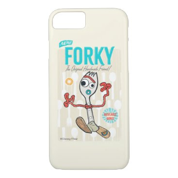 Toy Story 4   Retro Forky Toy Ad iPhone 8/7 Case