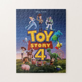 Toy Story 4 | Toys On Field Theatrical Poster Jigsaw Puzzle
