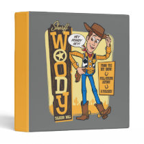 Toy Story 4 | Vintage Sheriff Woody Doll Ad 3 Ring Binder