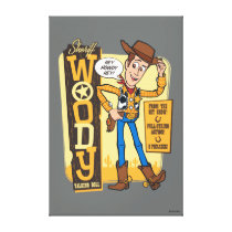 Toy Story 4 | Vintage Sheriff Woody Doll Ad Canvas Print