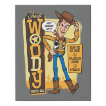 Toy Story 4 | Vintage Sheriff Woody Doll Ad Faux Canvas Print