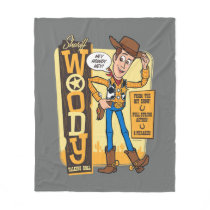 Toy Story 4 | Vintage Sheriff Woody Doll Ad Fleece Blanket