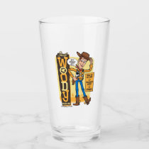 Toy Story 4 | Vintage Sheriff Woody Doll Ad Glass