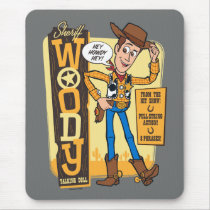 Toy Story 4 | Vintage Sheriff Woody Doll Ad Mouse Pad