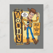 Toy Story 4 | Vintage Sheriff Woody Doll Ad Postcard