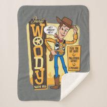 Toy Story 4 | Vintage Sheriff Woody Doll Ad Sherpa Blanket