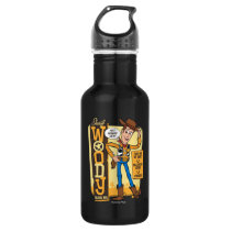 Toy Story 4 | Vintage Sheriff Woody Doll Ad Stainless Steel Water Bottle