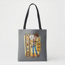 Toy Story 4 | Vintage Sheriff Woody Doll Ad Tote Bag