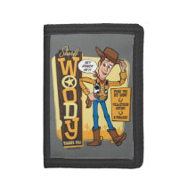 Toy Story 4 | Vintage Sheriff Woody Doll Ad Trifold Wallet