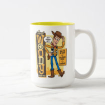 Toy Story 4 | Vintage Sheriff Woody Doll Ad Two-Tone Coffee Mug