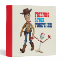 Toy Story 4 | Woody & Forky Walking Together 3 Ring Binder