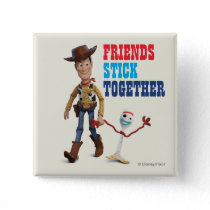 Toy Story 4 | Woody & Forky Walking Together Button