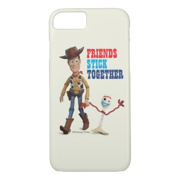 Toy Story 4   Woody & Forky Walking Together iPhone 8/7 Case