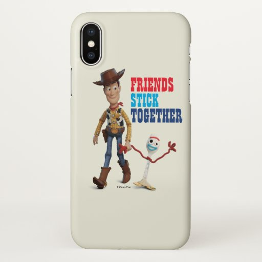 Toy Story 4 | Woody & Forky Walking Together iPhone X Case