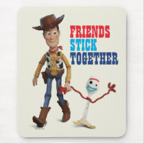 Toy Story 4 | Woody & Forky Walking Together Mouse Pad