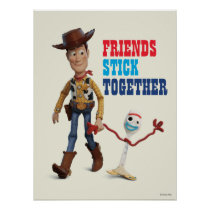 Toy Story 4 | Woody & Forky Walking Together Poster