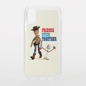 Toy Story 4   Woody & Forky Walking Together Speck iPhone X Case