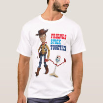 Toy Story 4 | Woody & Forky Walking Together T-Shirt