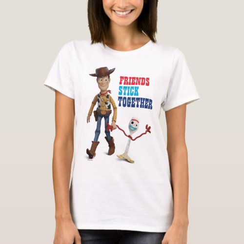 Toy Story 4  Woody  Forky Walking Together T_Shirt