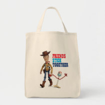 Toy Story 4 | Woody & Forky Walking Together Tote Bag