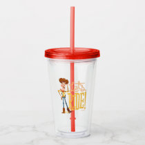 "Toy Story 4 | Woody Illustration ""Let's Ride"" Acrylic Tumbler"
