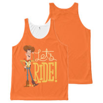 "Toy Story 4 | Woody Illustration ""Let's Ride"" All-Over-Print Tank Top"