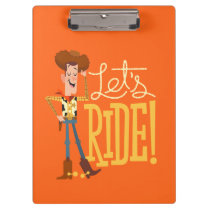 "Toy Story 4 | Woody Illustration ""Let's Ride"" Clipboard"