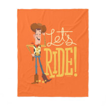 "Toy Story 4 | Woody Illustration ""Let's Ride"" Fleece Blanket"