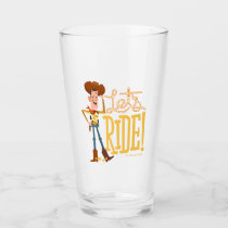 "Toy Story 4 | Woody Illustration ""Let's Ride"" Glass"