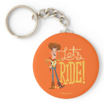 "Toy Story 4 | Woody Illustration ""Let's Ride"" Keychain"