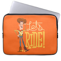 "Toy Story 4 | Woody Illustration ""Let's Ride"" Laptop Sleeve"
