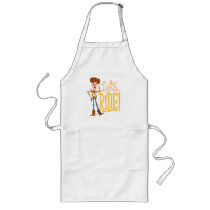 "Toy Story 4 | Woody Illustration ""Let's Ride"" Long Apron"