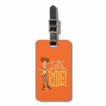 "Toy Story 4 | Woody Illustration ""Let's Ride"" Luggage Tag"
