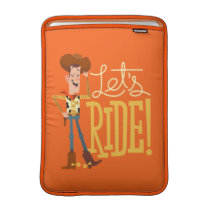 "Toy Story 4 | Woody Illustration ""Let's Ride"" MacBook Air Sleeve"
