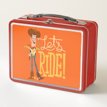 "Toy Story 4 | Woody Illustration ""Let's Ride"" Metal Lunch Box"