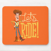 "Toy Story 4 | Woody Illustration ""Let's Ride"" Mouse Pad"