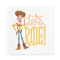"Toy Story 4 | Woody Illustration ""Let's Ride"" Napkins"