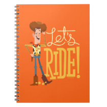 "Toy Story 4 | Woody Illustration ""Let's Ride"" Notebook"