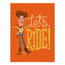 "Toy Story 4 | Woody Illustration ""Let's Ride"" Poster"