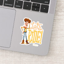 "Toy Story 4 | Woody Illustration ""Let's Ride"" Sticker"