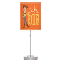 "Toy Story 4 | Woody Illustration ""Let's Ride"" Table Lamp"