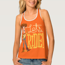 "Toy Story 4 | Woody Illustration ""Let's Ride"" Tank Top"