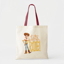 "Toy Story 4 | Woody Illustration ""Let's Ride"" Tote Bag"