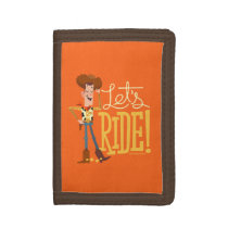 "Toy Story 4 | Woody Illustration ""Let's Ride"" Trifold Wallet"