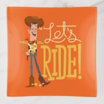 "Toy Story 4 | Woody Illustration ""Let's Ride"" Trinket Trays"