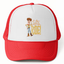 "Toy Story 4 | Woody Illustration ""Let's Ride"" Trucker Hat"