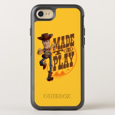 """Toy Story 4   Woody """"Made To Play"""" OtterBox Symmetry iPhone 8/7 Case"""