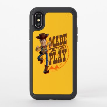 """Toy Story 4   Woody """"Made To Play"""" Speck iPhone X Case"""